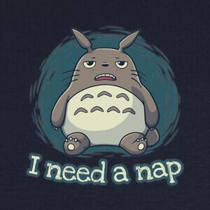 Camisetas Totoro Necesita Siesta - Anime, Ghibli