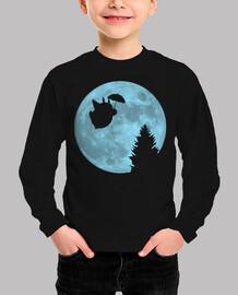 Totoro volando bajo la luna