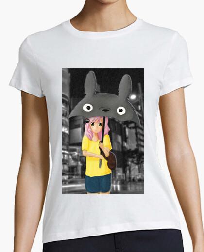 Camiseta Totoro's umbrella para mujer
