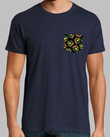 toucan tropical poche latostadora.com - homme, manche courte, bleu marine, qualité extra