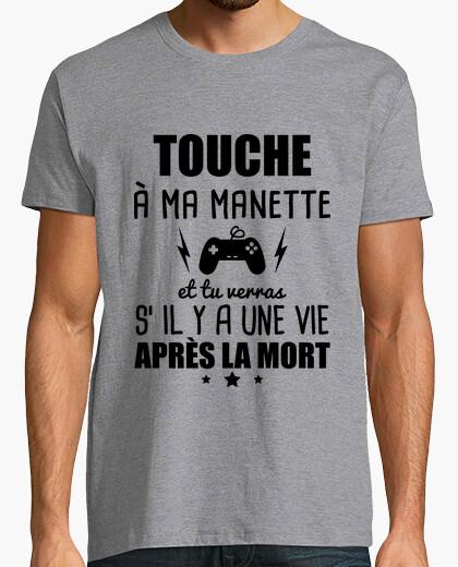 Tee-shirt touche a ma manette geek gamer