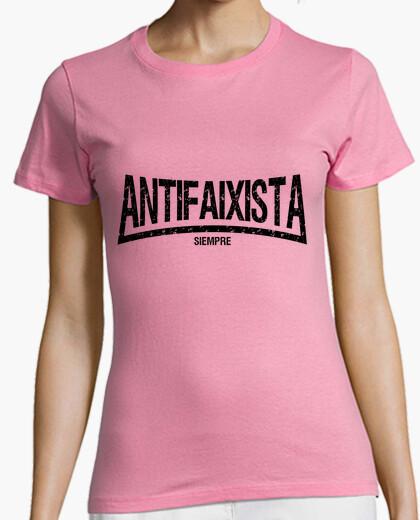 Tee-shirt toujours antifaixista (lettres noires)