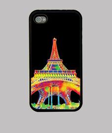tour eiffel -paris - étui iphone 4 noir