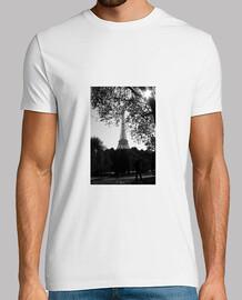 tour eiffel b & n - t-shirt