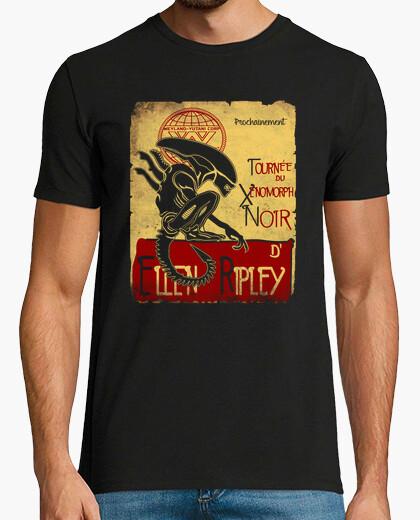 T-shirt tournee du noir xenomorph