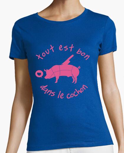 Tee-shirt tout est bon dans le cochon