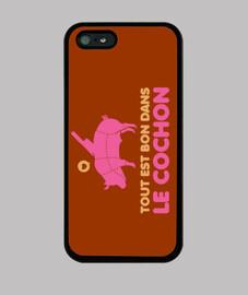 Tout est bon dans le cochon - Coque iPhone