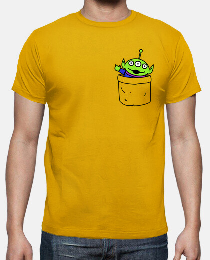 Toy alien in a pocket camiseta chico