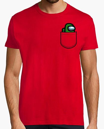 T-shirt tra noi tascabile verde scuro