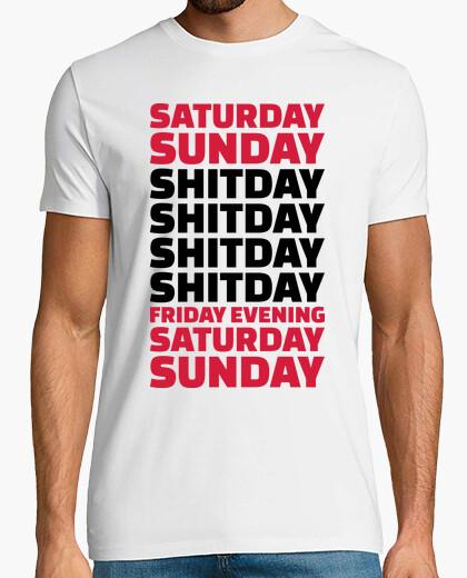 Camiseta trabajo de oficina shitday