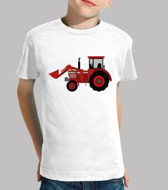 tracteur / pelle / agriculture / rouge