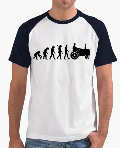 Camiseta tractor de la evolución