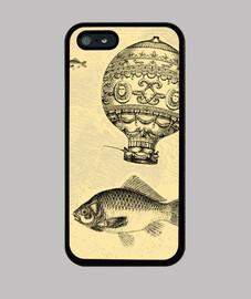 Tradicional pesca en globo vintage