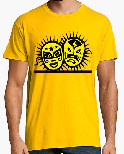 Camiseta Tragedia y Comedia - Máscaras de lucha