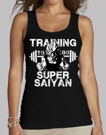 Training to go Super Saiyan - Goku