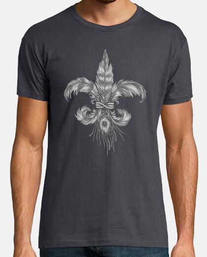 trapunte fleur de lis. t-shirt da uomo