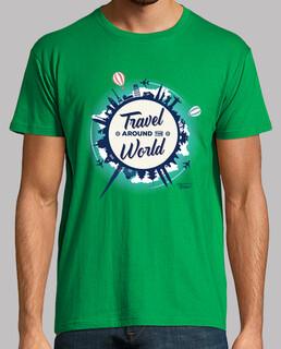 travel around the world - t shirt - t shirt h