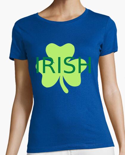 Camiseta trébol irlandés verde