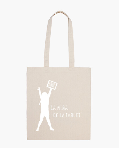 Trendy solidarity - the girl in the tablet bag