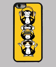 tres monos sabios - totem 3 monos diver