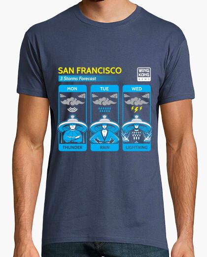 Camiseta tres tormentas / problema grande en poco china / mens
