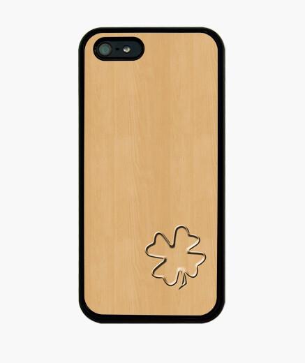 Funda iPhone trevol cuatro hojas