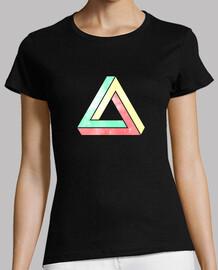 triangolo di penrose infinite - verde / giallo / rosso