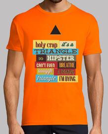 triangolo hipster (maglietta bianca)
