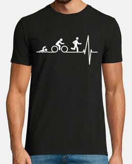 triatlon in the heart (dark background)