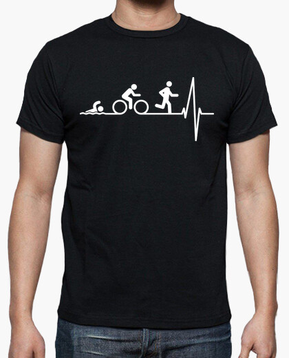 Triatlon in the heart (dark background) t-shirt
