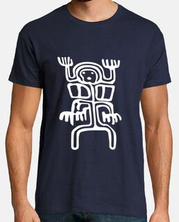 tribal alien petroglyph white 2
