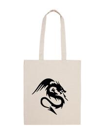 tribal dragón negro