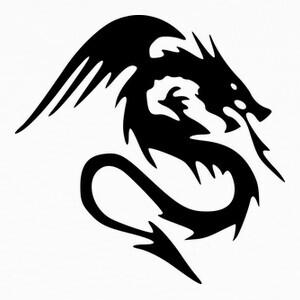 Tee-shirts Tribal Dragon Noir