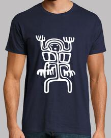 Tribal Petroglyphe Alien Blanc 2