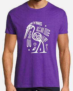 Tribal Pétroglyphe Autruche Blanche