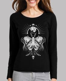 tribal tattoo butterfly - dark tee