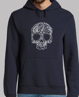 tribal tattoo stil gotischen schädel herren hoodie