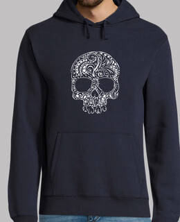 Tribal tattoo style gothic skull Men's Hoodie