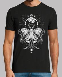 tribale tatuaggio farfalla - dark t-shirt