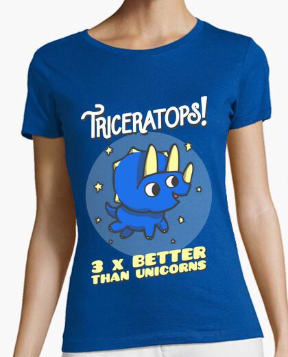 Tee-shirt triceratops 3 fois mieux que licornes