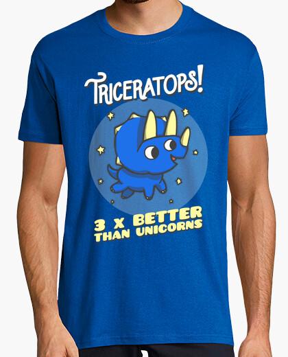 T-Shirt triceratops 3 mal besser als einhörner