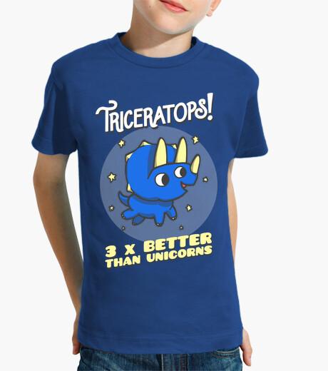 Abbigliamento bambino triceratops 3 volte better rispetto unicorni