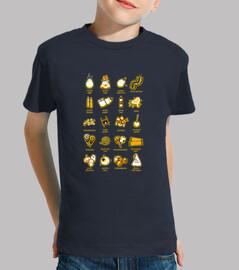 Trick or Treat icons t-shirt bambino