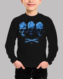 trio calavera azul