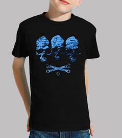 trio di teschio blu