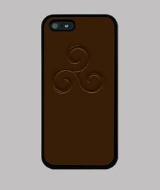 triskel marrón efecto grabado en relieve