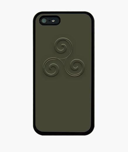 Funda iPhone triskel verde en relieve efecto