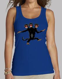 trois singes à tête (femme)