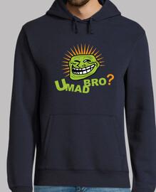 troll que enfrentar bro enojado camiseta