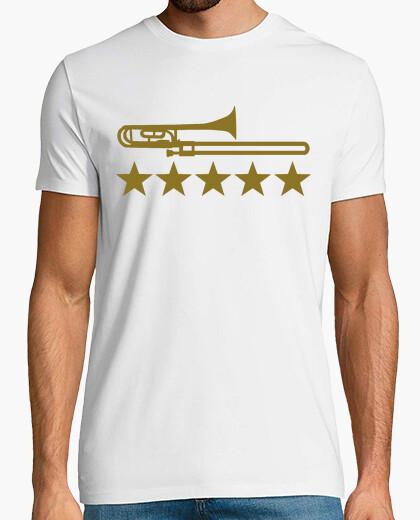 Camiseta trombón estrellas